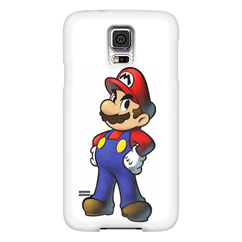 Чехол для Samsung Galaxy S5 Printio Super mario samsung g900h galaxy s5 16гб белый в омске