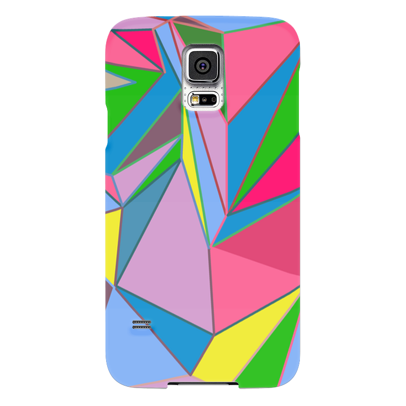 Чехол для Samsung Galaxy S5 Printio Цветная геометрия елена крош аппликация из геометрических фигур
