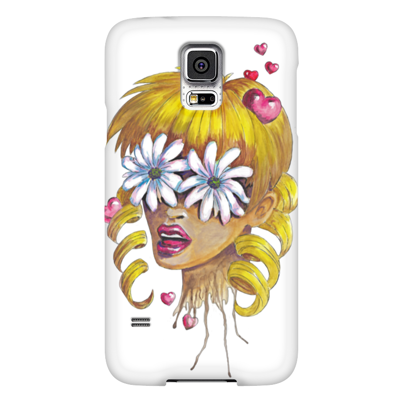 Чехол для Samsung Galaxy S5 Printio Без ума от цветов kakim bydet gibkii telefon ot samsung