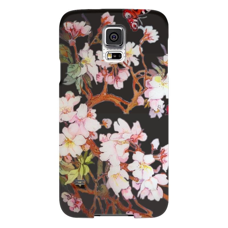 Чехол для Samsung Galaxy S5 Printio Бабочки на цветущей вишне 2. чехол для samsung galaxy s5 printio череп художник