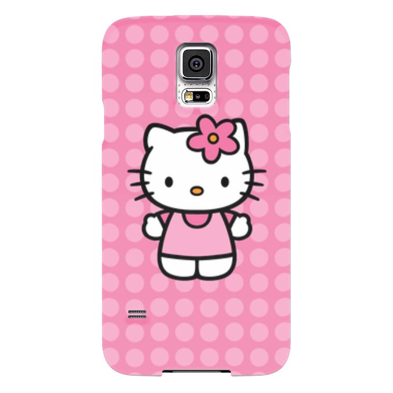 Чехол для Samsung Galaxy S5 Printio Kitty в горошек чехол для samsung galaxy s5 printio композиция в сером