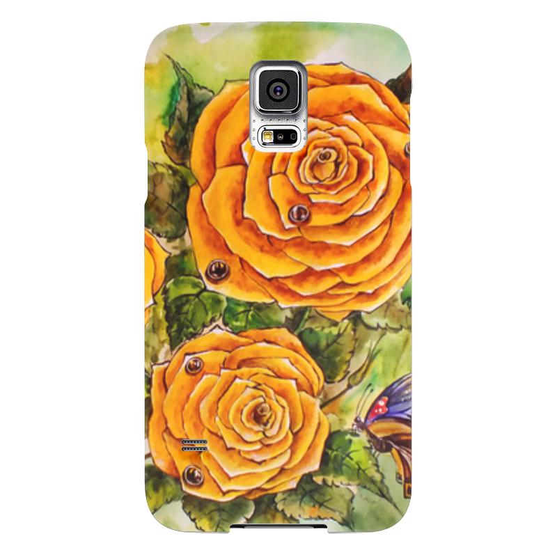 Чехол для Samsung Galaxy S5 Printio Жёлтая роза samsung g900h galaxy s5 16гб белый в омске