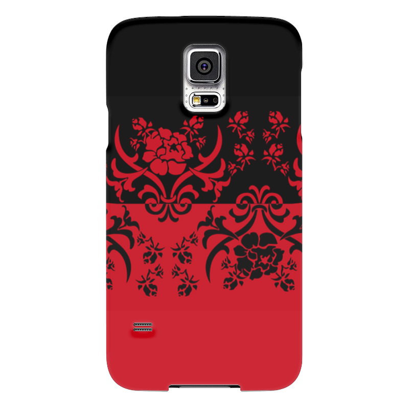Чехол для Samsung Galaxy S5 Printio Красно-черное samsung g900h galaxy s5 16гб белый в омске