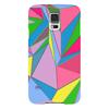 """Чехол для Samsung Galaxy S5 """"Цветная геометрия"""" - треугольник, цветная, яркая, геометрия, углы"""