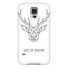 """Чехол для Samsung Galaxy S5 """"Dear Deer"""" - рисунок, дизайн, олень, минимализм, рога"""