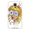 """Чехол для Samsung Galaxy S5 """"Без ума от цветов"""" - любовь, девушка, цветы, сердца, блондинка"""