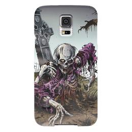 "Чехол для Samsung Galaxy S5 ""Мертвец (зомби)"" - хэллоуин, zombie, зомби, скелет, мертвец"