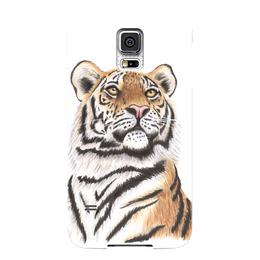 """Чехол для Samsung Galaxy S5 """"Взгляд тигра"""" - хищник, животные, взгляд, тигр, зверь"""