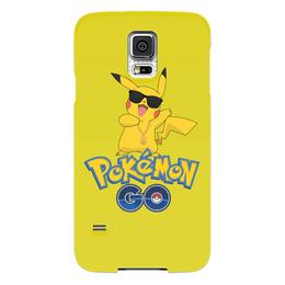 "Чехол для Samsung Galaxy S5 ""Pokemon GO"" - игра, покемон, пикачу, доллар, pikachu"