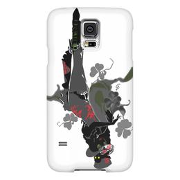 "Чехол для Samsung Galaxy S5 ""Ядовитый плющ."" - череп, девушка, ядовитый плющ, негритянка, трилистники"