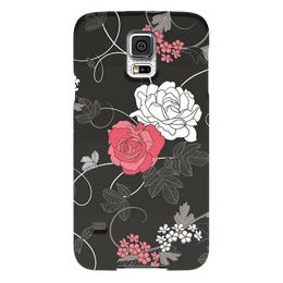 """Чехол для Samsung Galaxy S5 """"Красная и белая розы"""" - цветы, белое, красное, розы"""