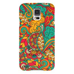 """Чехол для Samsung Galaxy S5 """"Растительный дудл узор"""" - арт, узор, орнамент, абстракция, дудл"""