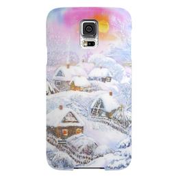 """Чехол для Samsung Galaxy S5 """"Зимушка-зима"""" - зима, снег, пейзаж, живопись"""