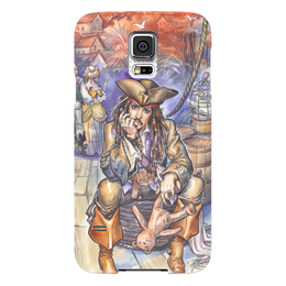 "Чехол для Samsung Galaxy S5 ""Капитан Джек Воробей."" - арт, иллюстрация, пират, джек воробей, пираты карибского моря"