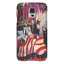 "Чехол для Samsung Galaxy S5 ""Marilyn Manson"" - &певец&, &marilyn manson& &мэрлин мэнсон&, &usa&, &статуя свободы&"