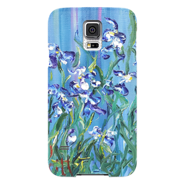 "Чехол для Samsung Galaxy S5 ""Ирисы"" - красота, сад, flowers, blue, ирис"