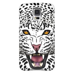 """Чехол для Samsung Galaxy S5 """"Леопард"""" - животные, рисунок, коты, леопард, хищники"""