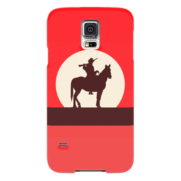 """Чехол для Samsung Galaxy S5 """"Ковбой"""" - кино, ковбой, дикий запад, вестерн"""