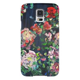 """Чехол для Samsung Galaxy S5 """"Огонь в ночи"""" - красота, цветочки, розы, roses"""