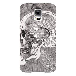 "Чехол для Samsung Galaxy S5 ""Череп"" - skull, череп, арт, линии, stripes"