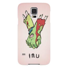 """Чехол для Samsung Galaxy S5 """"I love you (зомби)"""" - хэллоуин, зомби, руки, парные, i love you"""