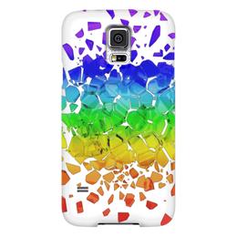 """Чехол для Samsung Galaxy S5 """"Broken rainbow"""" - радуга, rainbow, broken, сломанная"""