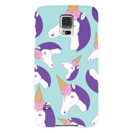 "Чехол для Samsung Galaxy S5 ""Единорог"" - лошадь, единорог, мороженое, ice cream"
