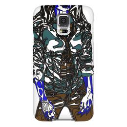 """Чехол для Samsung Galaxy S5 """"Шейный платок"""" - девушка, фигура, галстук, рубашка, сине-зеленый"""