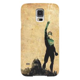 """Чехол для Samsung Galaxy S5 """"Зеленый фонарь"""" - комиксы, dc, зеленый фонарь, лига справедливости"""