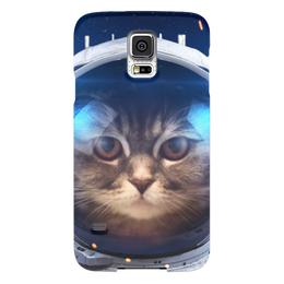 """Чехол для Samsung Galaxy S5 """"Котосмонавт"""" - кот, космос, животное, костюм"""