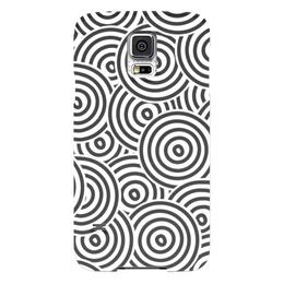 """Чехол для Samsung Galaxy S5 """"Радиальный"""" - узор, стиль, рисунок, круги, кольца"""
