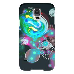 """Чехол для Samsung Galaxy S5 """"Галактика"""" - космос, яркий, оригинальный, веселый, геометрический"""