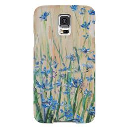 "Чехол для Samsung Galaxy S5 ""Васильки"" - лето, красота, цветочки, василек, любо"