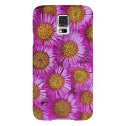 "Чехол для Samsung Galaxy S5 ""Астры"" - цветы, желтый, розовый, лепесток, астры"