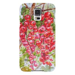 """Чехол для Samsung Galaxy S5 """"Красная смородина """" - рисунок, природа, смородина, красная смородина"""
