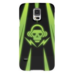 """Чехол для Samsung Galaxy S5 """"Skull"""" - skull, music, dubstep"""