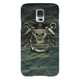 """Чехол для Samsung Galaxy S5 """"ФЛОТ!!!"""" - море, якорь, океан, флот, бескозырка"""