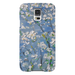 """Чехол для Samsung Galaxy S5 """"Весна"""" - красота, сад, небо, апрель, дерево цветущее"""