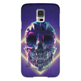 "Чехол для Samsung Galaxy S5 ""Low poly skull"" - skull, череп, полигон"
