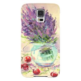 """Чехол для Samsung Galaxy S5 """"Лаванда"""" - цветы, подарок к 8 марта, лаванда, lavender, валерия меценатова"""