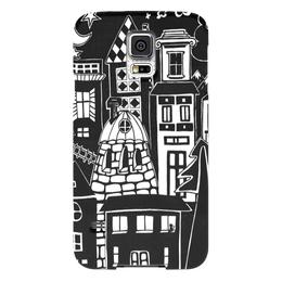 """Чехол для Samsung Galaxy S5 """"Город вместе с тобой"""" - дом, сказка, туризм, уют"""
