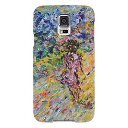 """Чехол для Samsung Galaxy S5 """"Дорога к счастью"""" - девушка, весна, горы, путешествия"""