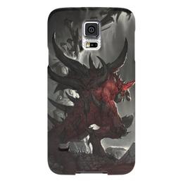 "Чехол для Samsung Galaxy S5 ""Diablo"" - blizzard, диабло, пещера, близзард"