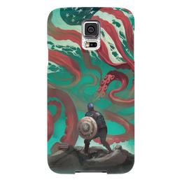 """Чехол для Samsung Galaxy S5 """"Капитан Америка"""" - комиксы, ктулху, кэп, марвел, captain america"""