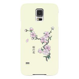 """Чехол для Samsung Galaxy S5 """"Японская сакура"""" - цветы, вишня, азия, япония, сакура"""