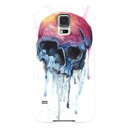 "Чехол для Samsung Galaxy S5 ""Rotten apple"" - skull, череп, акварель, яблоко"