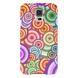 """Чехол для Samsung Galaxy S5 """"Цветные круги"""" - узор, стиль, рисунок, абстракция, круги"""