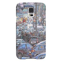 """Чехол для Samsung Galaxy S5 """"Охотный ряд"""" - арт, москва, город, пейзаж, живопись"""