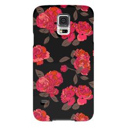 "Чехол для Samsung Galaxy S5 ""Ночной розарий"" - роза, цветок, подарок, девушке"