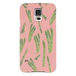 """Чехол для Samsung Galaxy S5 """"Веган """" - фрукты, розовый, овощи, аспарагус, веганский"""